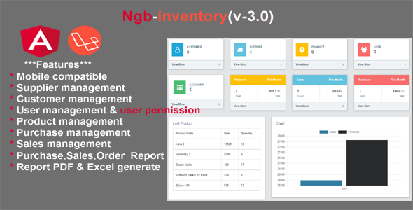 inventory angular 7 + laravel 5.6 - CodeCanyon Item for Sale