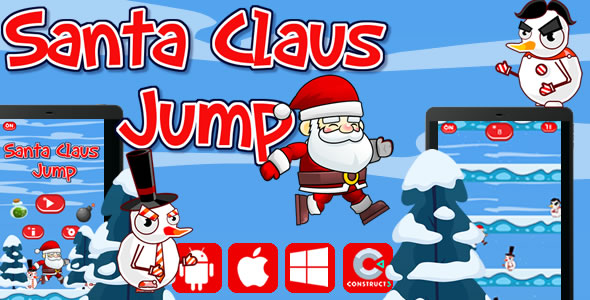 Santa Claus Jump - Html5 Game (Capx) - CodeCanyon Item for Sale
