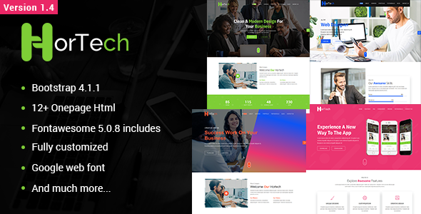 Hortech – One Page Parallax Multipurpose - Business Corporate