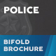 Police Bifold / Halffold Brochure - GraphicRiver Item for Sale