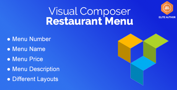Restaurant Menu for Visual Composer - CodeCanyon Item for Sale