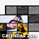 Pocket Calendar 2019 - Metro Style - GraphicRiver Item for Sale