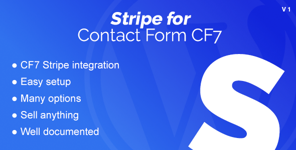 Stripe Integration for Contact Form CF7 - CodeCanyon Item for Sale