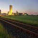 Railroad Track To Salt Mine At Dusk - PhotoDune Item for Sale