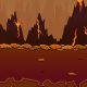 Volcano Game Background - GraphicRiver Item for Sale