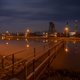 Canal Lock And Aluminium Plant At Night - PhotoDune Item for Sale