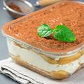 Traditional italian Tiramisu dessert cake in a glass form, decor - PhotoDune Item for Sale