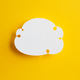 Paper Speech Bubble on Yellow Background - PhotoDune Item for Sale