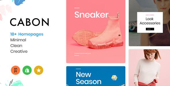 Cabon - Minimal Clean Multiple Shopify Theme - Fashion Shopify