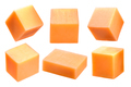 Cheddar cheese block and cubes, paths - PhotoDune Item for Sale