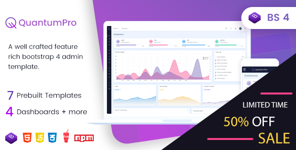 QuantumPro - Bootstrap 4 Dashboard & UI Kit - Admin Templates Site Templates