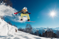 Girl is jumping with snowboard - PhotoDune Item for Sale
