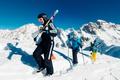 Sportsmen is walkig on the mountain - PhotoDune Item for Sale