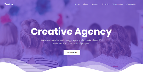 Zestia - OnePage Creative Agency Template