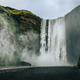 Landscape view of Skogafoss waterfall in cool colors, Skogar, Iceland - PhotoDune Item for Sale
