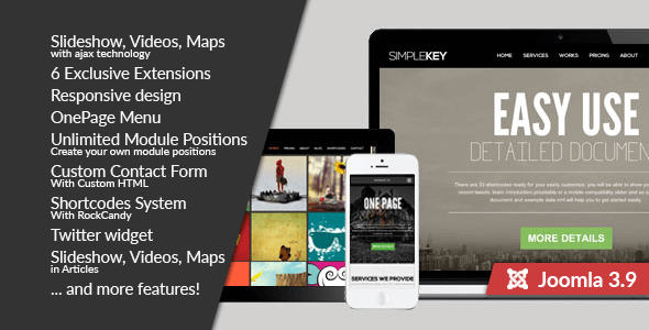 SimpleKey :: One Page Portfolio Joomla Template - Portfolio Creative