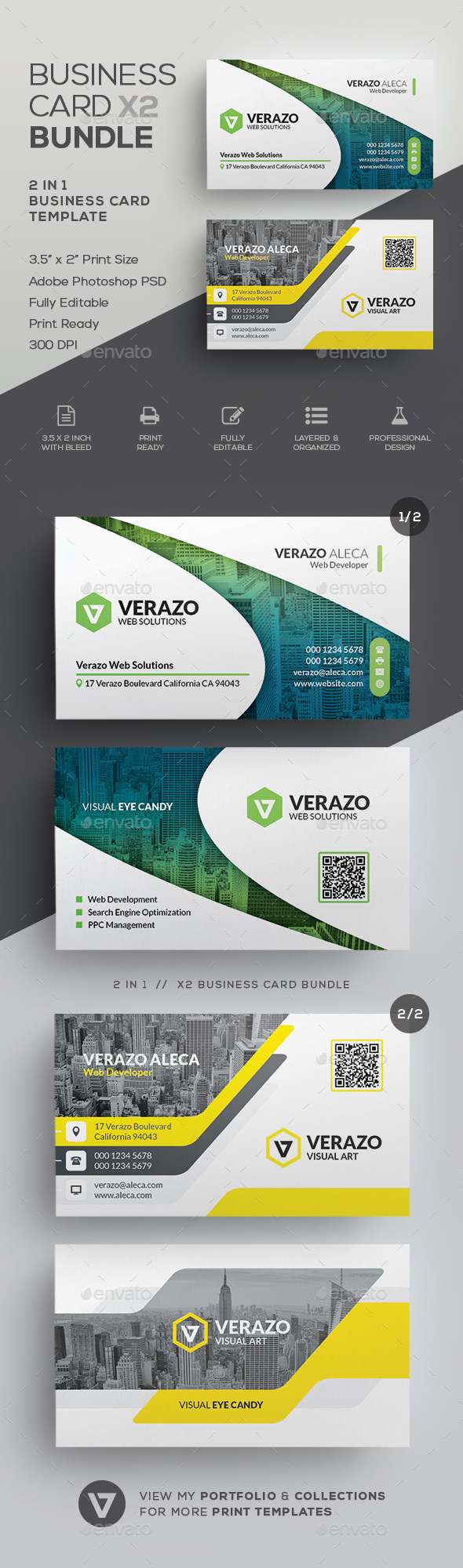 Business Card Bundle 60 - Corporate Business Cards
