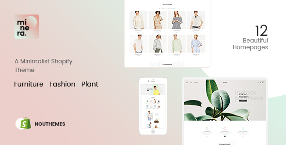 Minera - Minimalist  Responsive Multipurpose Sections Drag & Drop Builder Shopify Theme - Fashion Shopify