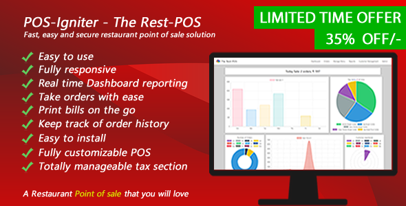 POS-Igniter - The Rest-POS - Fast, easy and secure restaurant point of sale solution - CodeCanyon Item for Sale