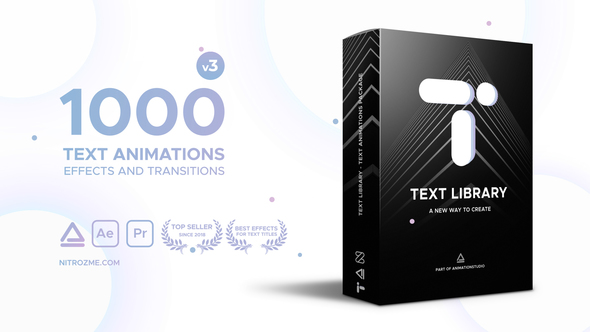 text library handy text animations by nitrozme videohive