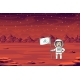 Astronaut With Flag - GraphicRiver Item for Sale