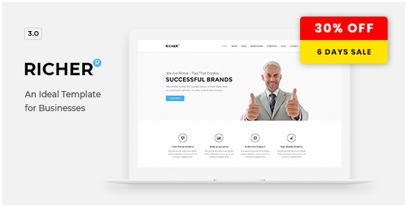 Richer – Responsive Multi-Purpose Theme