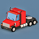 Cartoon Semi Truck - 3DOcean Item for Sale
