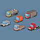 Cartoon Transport Cars v1 - 3DOcean Item for Sale