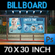 Swimming Pool Cleaning Service Billboard Template Vol.2 - GraphicRiver Item for Sale
