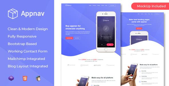 Appnav - App Landing Page