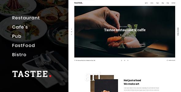 Tastee | Restaurant PSD Template
