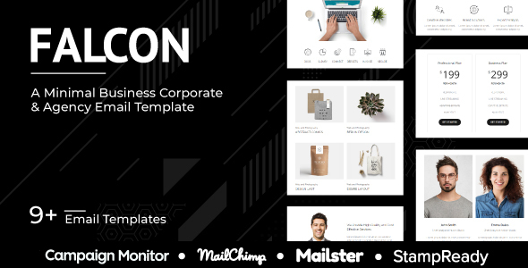 Falcon - Multipurpose Responsive Agency Email Template - StampReady + Mailster + Mailchimp by grapestheme