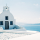 Traditional mediterranean white church in minimalistic design, Greece - PhotoDune Item for Sale