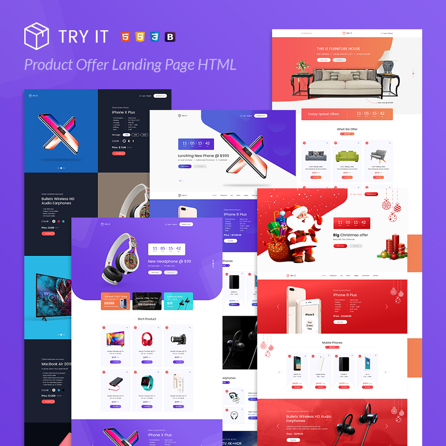 Tryit - Product Offer Landing Page HTML Template - 2