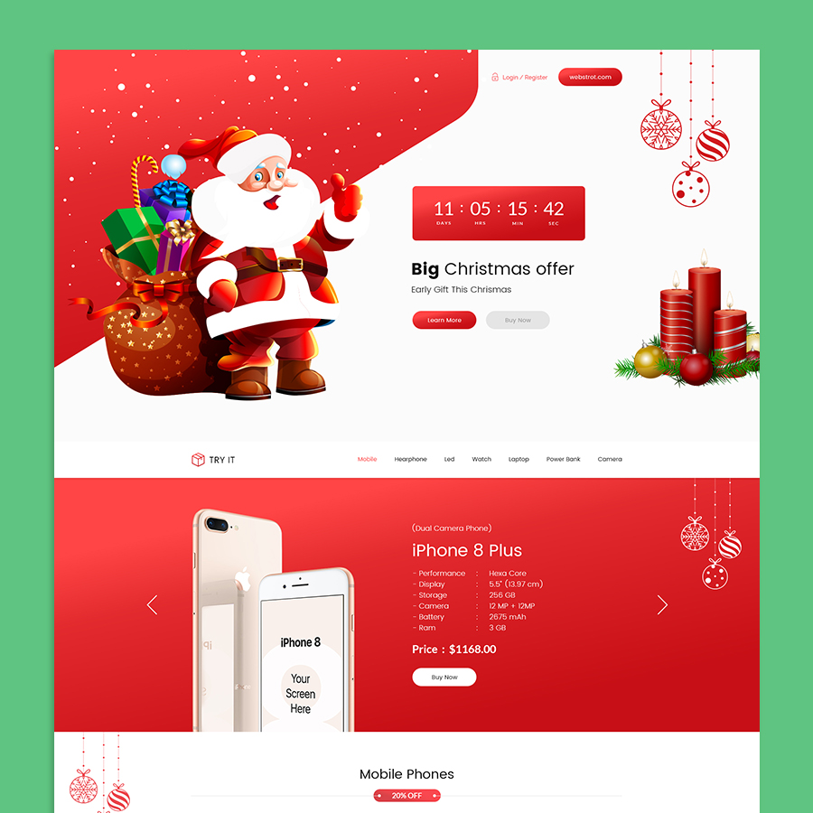 Tryit - Product Offer Landing Page HTML Template - 3