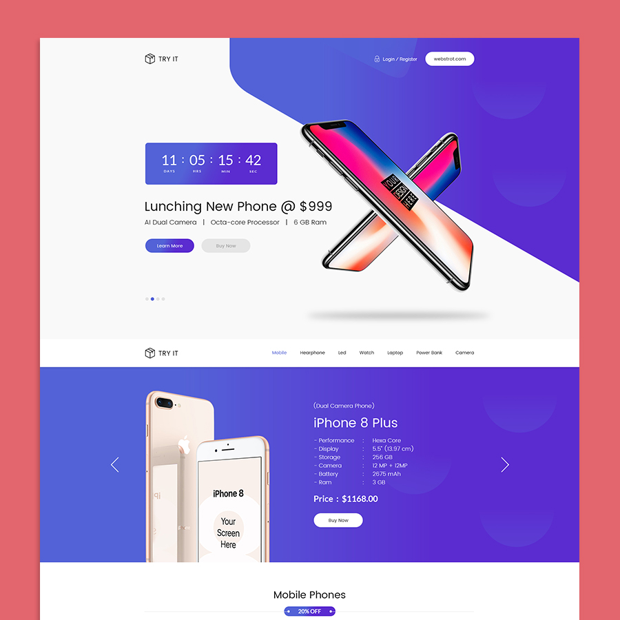 Tryit - Product Offer Landing Page HTML Template - 4