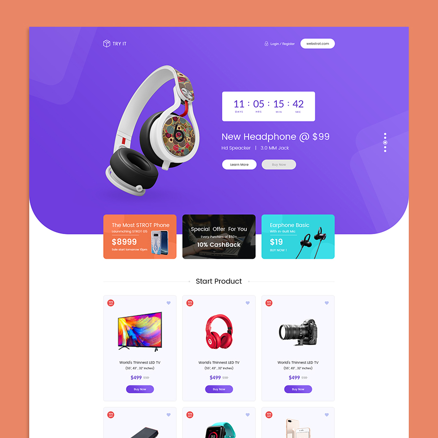 Tryit - Product Offer Landing Page HTML Template - 5
