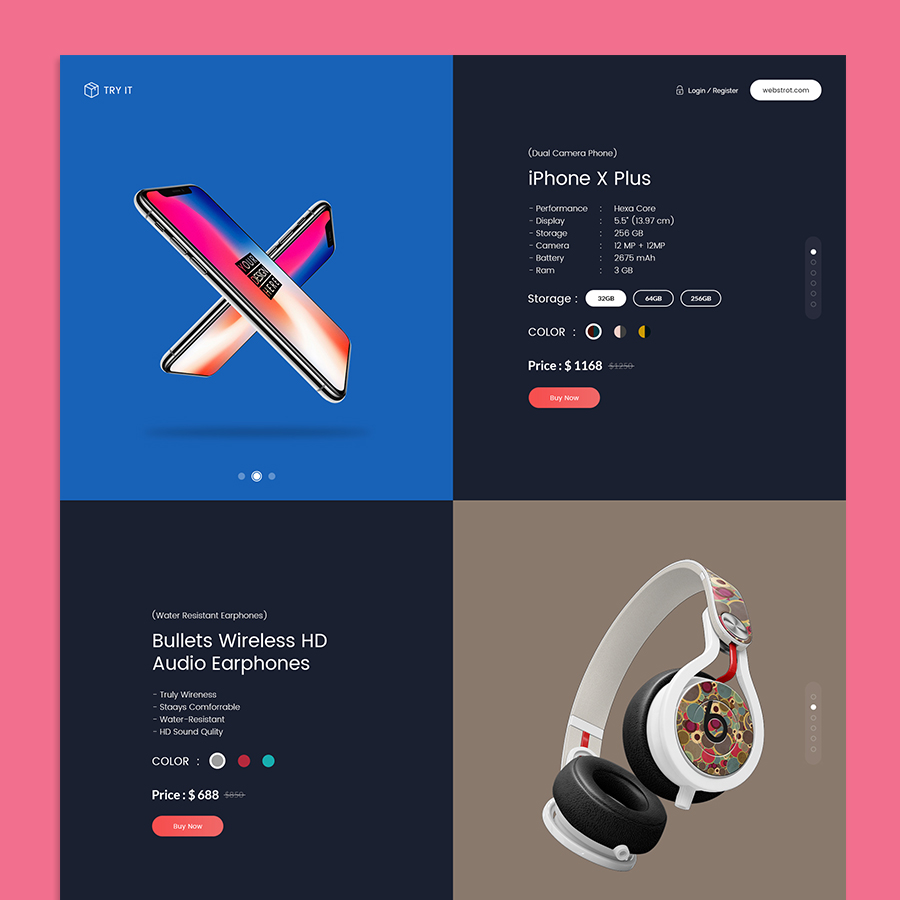 Tryit - Product Offer Landing Page HTML Template - 6
