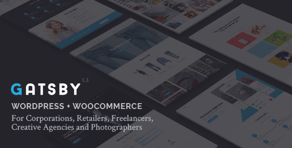 Gatsby - WordPress + eCommerce Theme - Creative WordPress