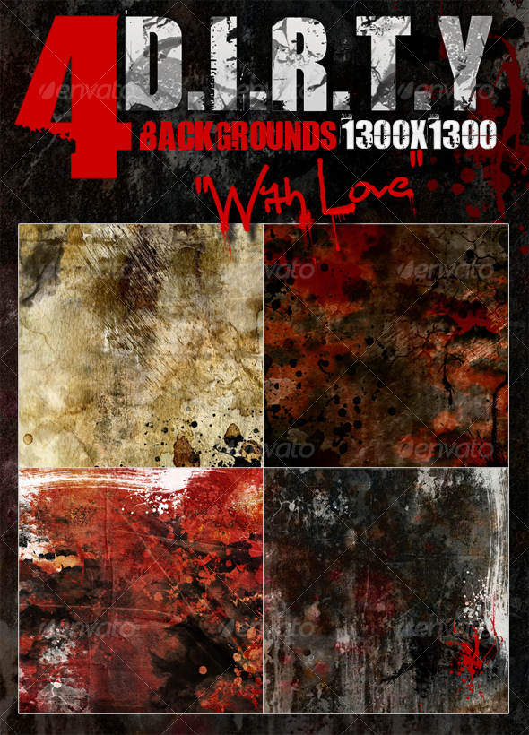 "4 DIRTY backgrounds ""With Love"" - 1300x1300 - Backgrounds Graphics"
