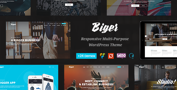 Biger - Responsive Multi-Purpose WordPress Theme - Business Corporate