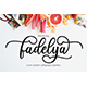 Fadelya Script - GraphicRiver Item for Sale