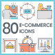 Online Shopping Icons - GraphicRiver Item for Sale