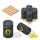 Isometric Oil Barrels - GraphicRiver Item for Sale