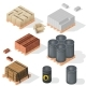 Construction Material Isometric - GraphicRiver Item for Sale