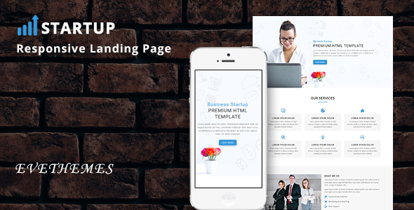 Startup - Responsive HTML Landing Page - Business Corporate