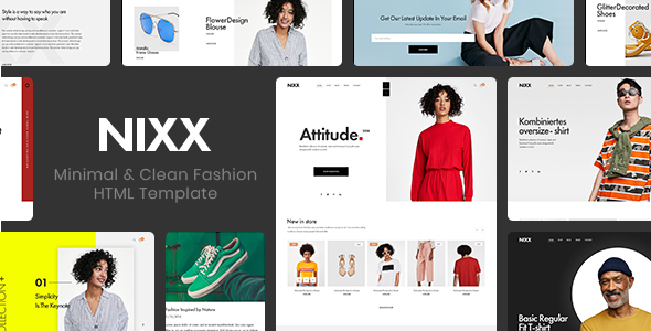 Incredible NIXX – Minimal & Clean Fashion HTML Template