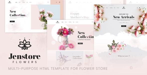JenStore   Multi-Purpose HTML Template for Flower Store