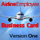 Airline Employee Business Card Version One - GraphicRiver Item for Sale