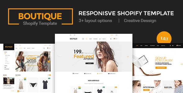 Boutique - Multi Store Responsive Shopify Theme - Shopify eCommerce